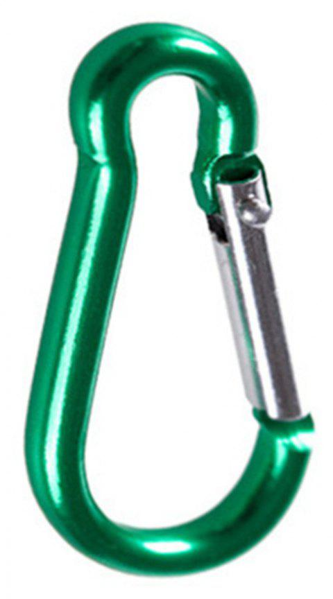 Gourd Shape Spring Aluminum Carabiner Door Home/Car/Camping/ Fishing/Hiking/Travel And Key Chains - GREEN