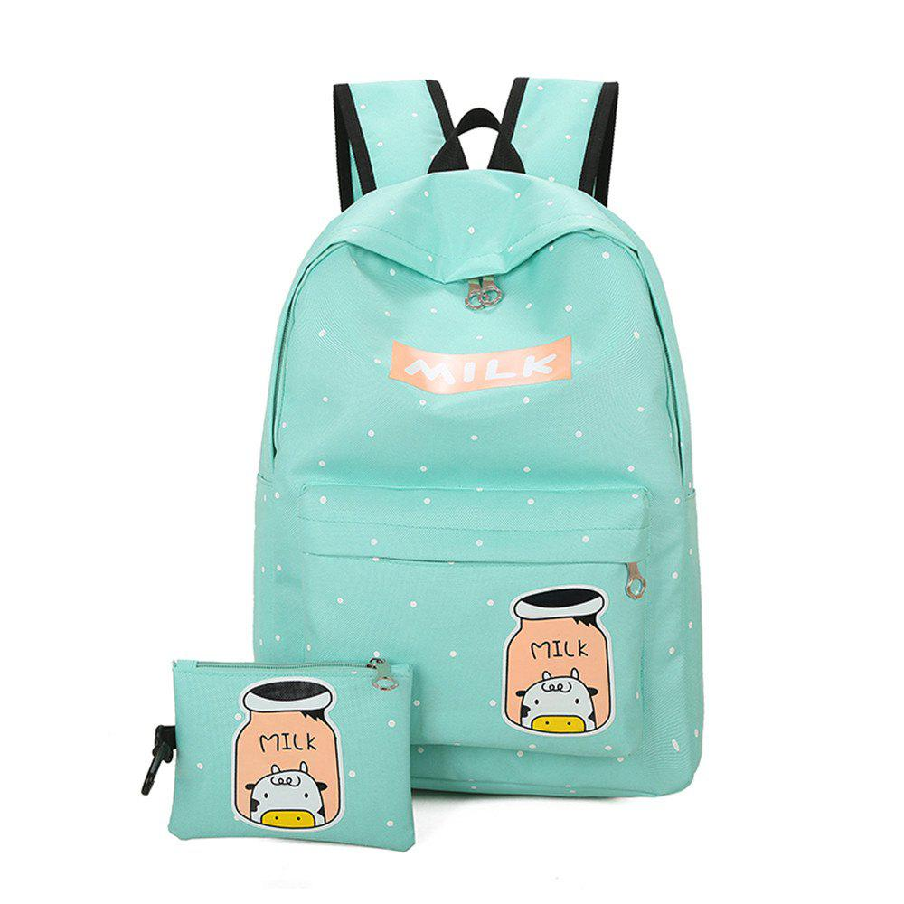 Cartoon Printing Campus Backpack Korean Fresh Wind All-match College Female Students - IVY