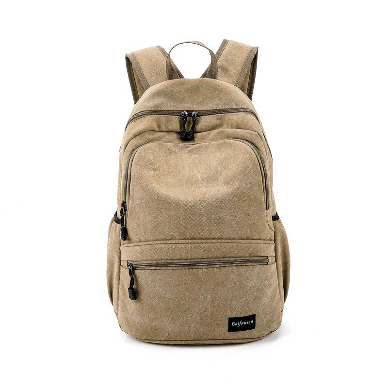 2018 New Fashion Large Capacity Men's Shoulder Knapsack - KHAKI