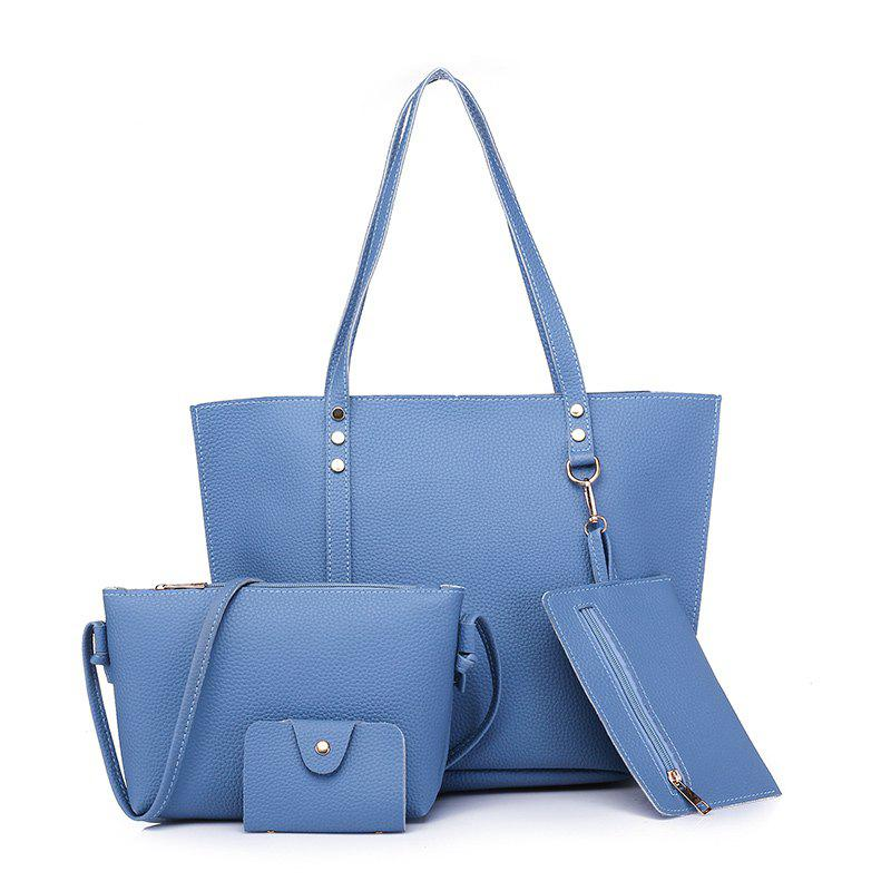 2018 New European And American Fashion Big Ladies Handbag - BLUE