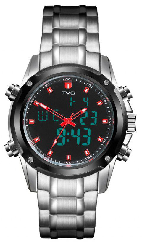 TVG KM-526 1324 Fashion Leisure Steel with Cool Outdoor Sports Electronic Quartz Watch - WHITE