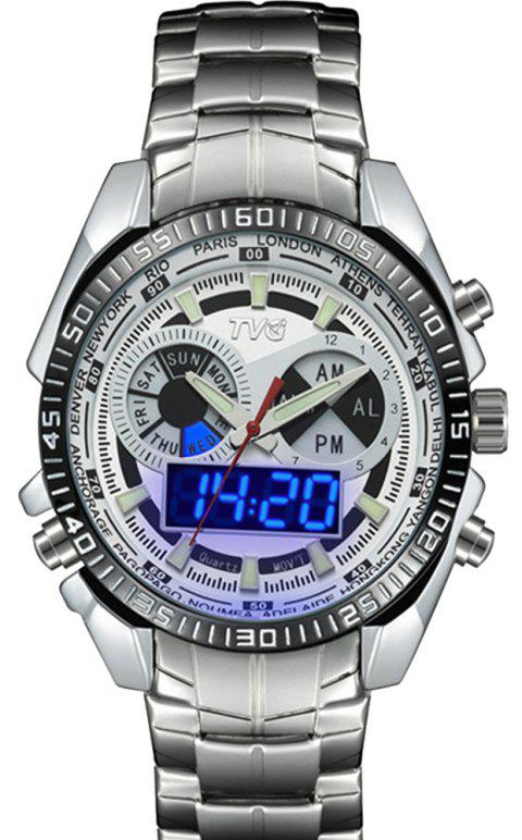TVG 568 3746 Leisure Fashion Night Light Shows The Cool Outdoor Sports Electronic Quartz Watch - WHITE