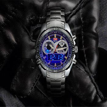 TVG 568 3746 Leisure Fashion Night Light Shows The Cool Outdoor Sports Electronic Quartz Watch - BLUE