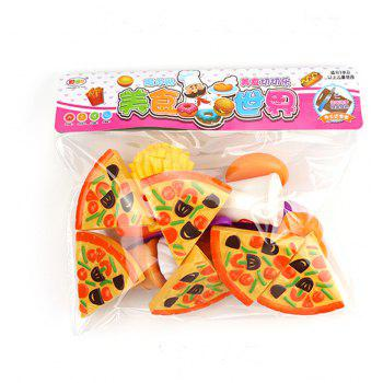 Children Kitchen Playing Simulation Pizza Cutting Fruit Food Toys 15PCS - COLORMIX