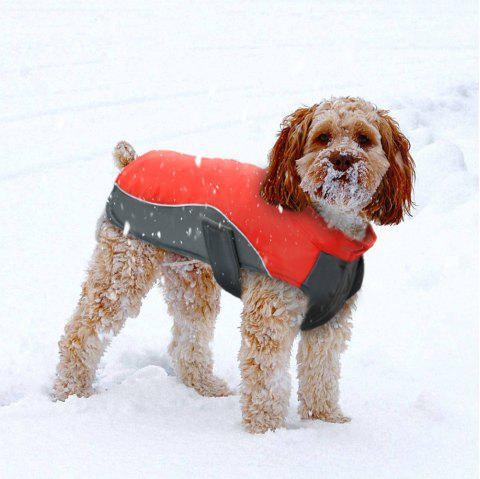 Lovoyager BL -674 New Style Dog Warm Clothing for Winter Outdoor - RED 2XL