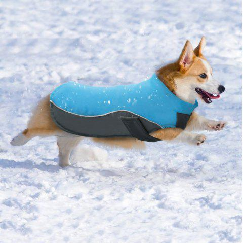 Lovoyager BL -674 New Style Dog Warm Clothing for Winter Outdoor - BLUE L