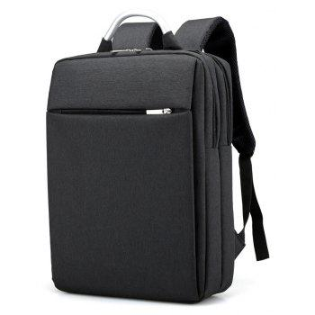 Men's Multi-compartment Computer Protection Bag  High-capacity Multi-functional Backpack - BLACK