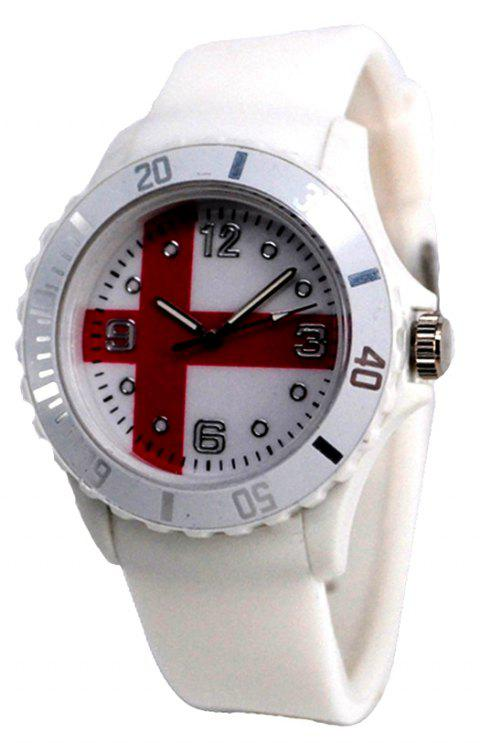 Creative England Flag Pattern Watch - WHITE
