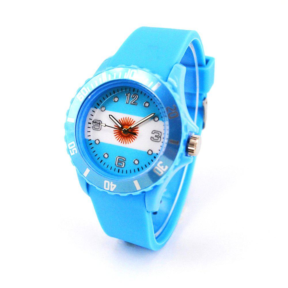 Argentina National Flag Fashion Watch - LIGHT BLUE