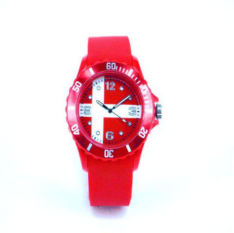 Supply Souvenir Danish Flag Watch World Cup - RED