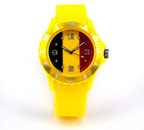 New World Cup commemorative gift Belgian flag watch - DAISY