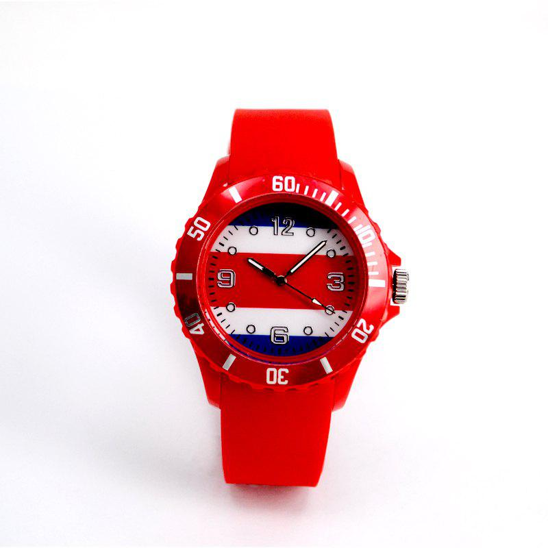 New World Cup Commemorative Gift for Costa Rica National Flag Watch - RED
