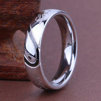 New Jewelry Heart-shaped Puzzle Couple Titanium Wedding Ring Valentine's Day Gift - BLACK / SILVER 9