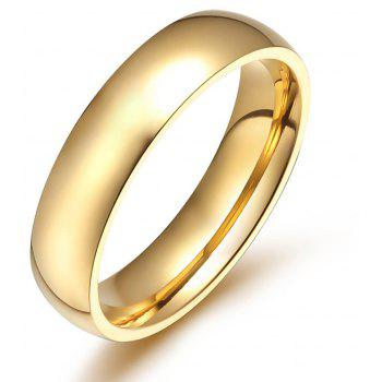 Men s Ring Gold Smooth Fashion Titanium