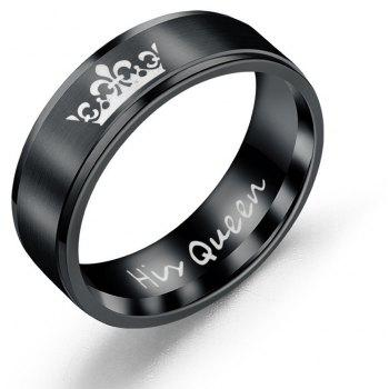 Couple Titanium Steel Ring Fashion Romantic Wild