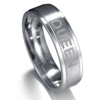 King and Queen Couple Titanium Steel Ring