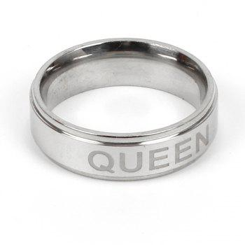 King and Queen Couple Titanium Steel Ring Crown Jewelry - FROST 7