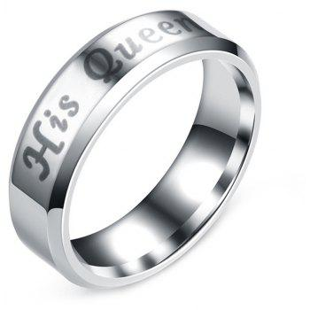 Letter King Queen Ring Stainless Steel Couples