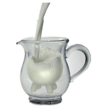 Creative Double-Layer Heat-Resistant Glass Cow Milk Cup Insulation Transparent - TRANSPARENT 11X12