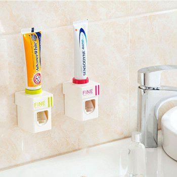 Convenient Hand Free Automatic Baby Toothbrush Dispensers Children Toothpaste Squeezer - PINK