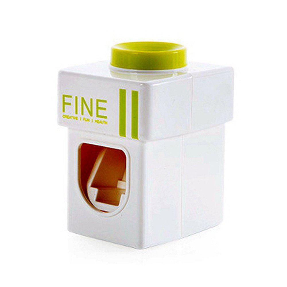 Convenient Hand Free Automatic Baby Toothbrush Dispensers Children Toothpaste Squeezer - GREEN