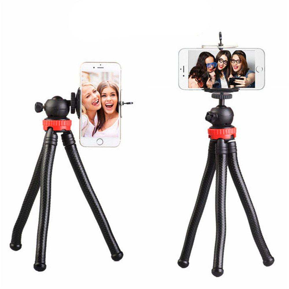 Octopus Style Portable and Adjustable Tripod Stand Holder for IPhone  Cellphone Camera with Universal Clip and Remote - BLACK