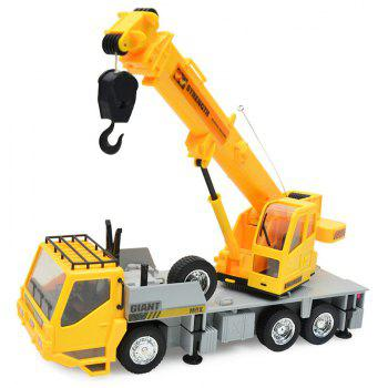 1:24 2.4G 8CH Wireless Remote Controlled Chargeable RC Engineering Vehicles Crane Truck for Kids Toy - YELLOW