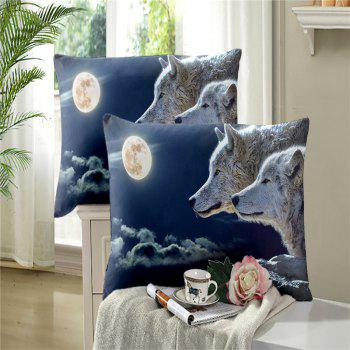 Moonlight Wolf Series Embroidery Three or FourPieces Beddings Set AS19 - FROST DOUBLE