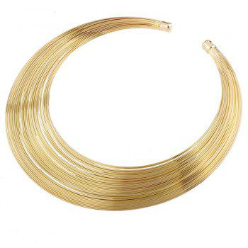 Femmes Filles Multi-Layer Metal Choker Collier Ouvert Court Collier Fine Jewelry - Or
