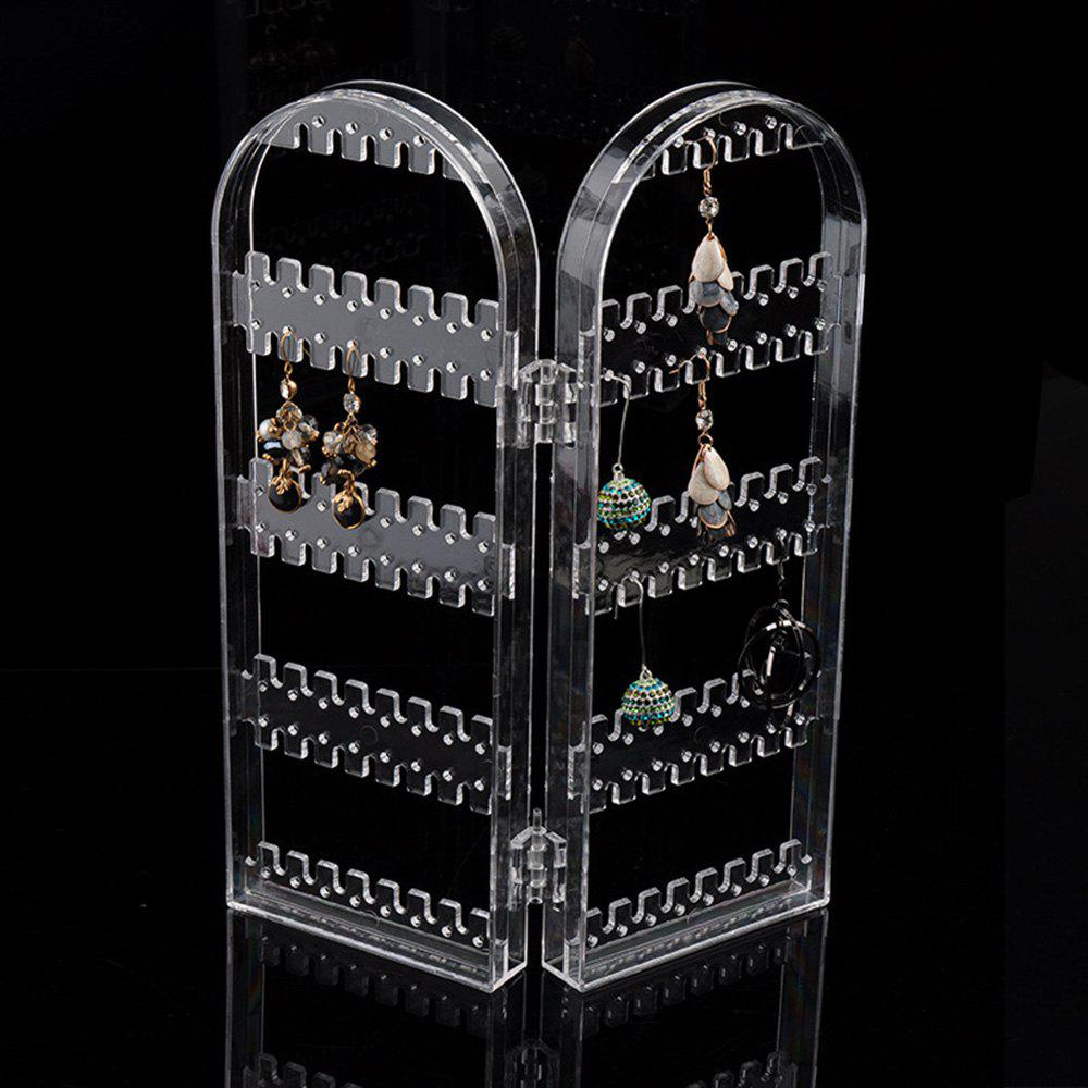 Earring Storage Stand Plastics Jewelry Organizer Holder Jewelry Display Stand Earrings Rack Ornaments - CLEAR
