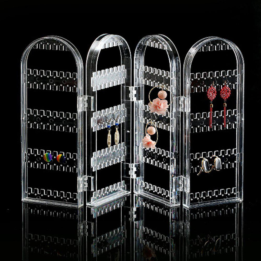 Earring Storage Stand Plastics Jewelry Organizer Holder Jewelry Display Stand Earrings Rack Ornaments - TRANSPARENT