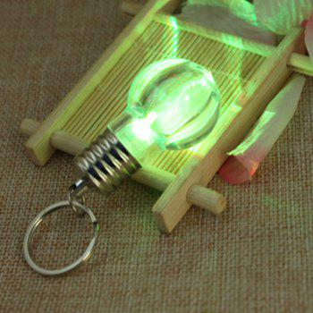 5Pcs Luminous  Plastic Bulb Shaped  Ring Mini Spiral Bulb Keychain - WHITE