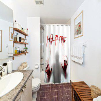 Help Me Polyester Shower Curtain Bathroom  High Definition 3D Printing Water-Proof - COLORMIX W71 INCH * L79 INCH