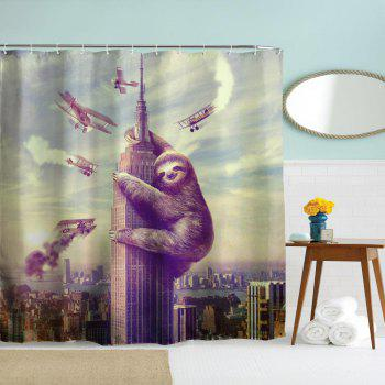Sloth Polyester Shower Curtain Bathroom  High Definition 3D Printing Water-Proof - COLORMIX W71 INCH * L71 INCH