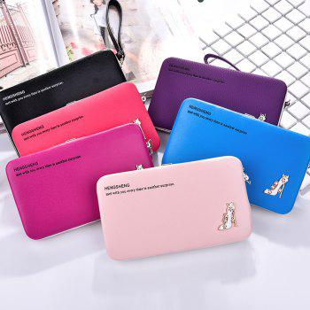 Female Wallet Long Pencil Case Clutch Bag Student Lunch Box Creative Models Mobile Phone Package - BLACK