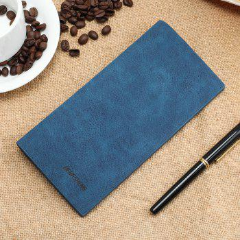 Wallet Long Section of Thin Frosted Youth Soft Personality Fashion Student Ticket Holder - BLUE