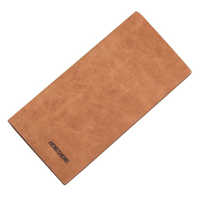 Wallet Long Section of Thin Frosted Youth Soft Personality Fashion Student Ticket Holder - COFFEE