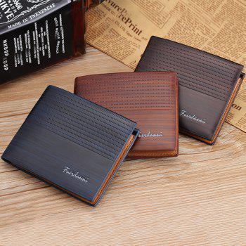 New Men's Short Wallet Casual Multi-function Card Zipper Buckle Fold - LIGHT COFFEE