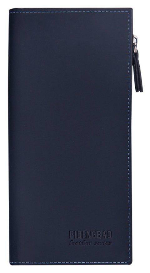 New Wallet Casual Men's Long Purse Multi-card Bit Matte - BLUE