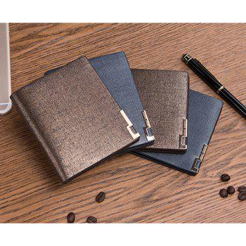 Local Tycoon Gentlemen Short Wallet Classic Business Soft-sided Leather Folder Cross-section - BLUE