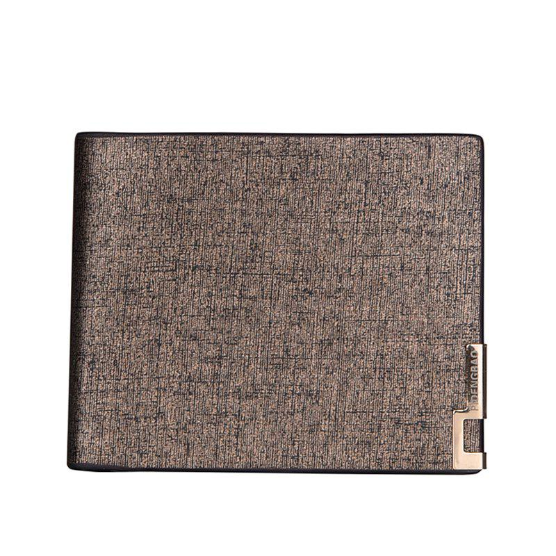 Local Tycoon Gentlemen Short Wallet Classic Business Soft-sided Leather Folder Cross-section - GOLDEN