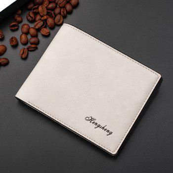 New Men's Short Wallet Purse Fashion Matte Leather - WHITE