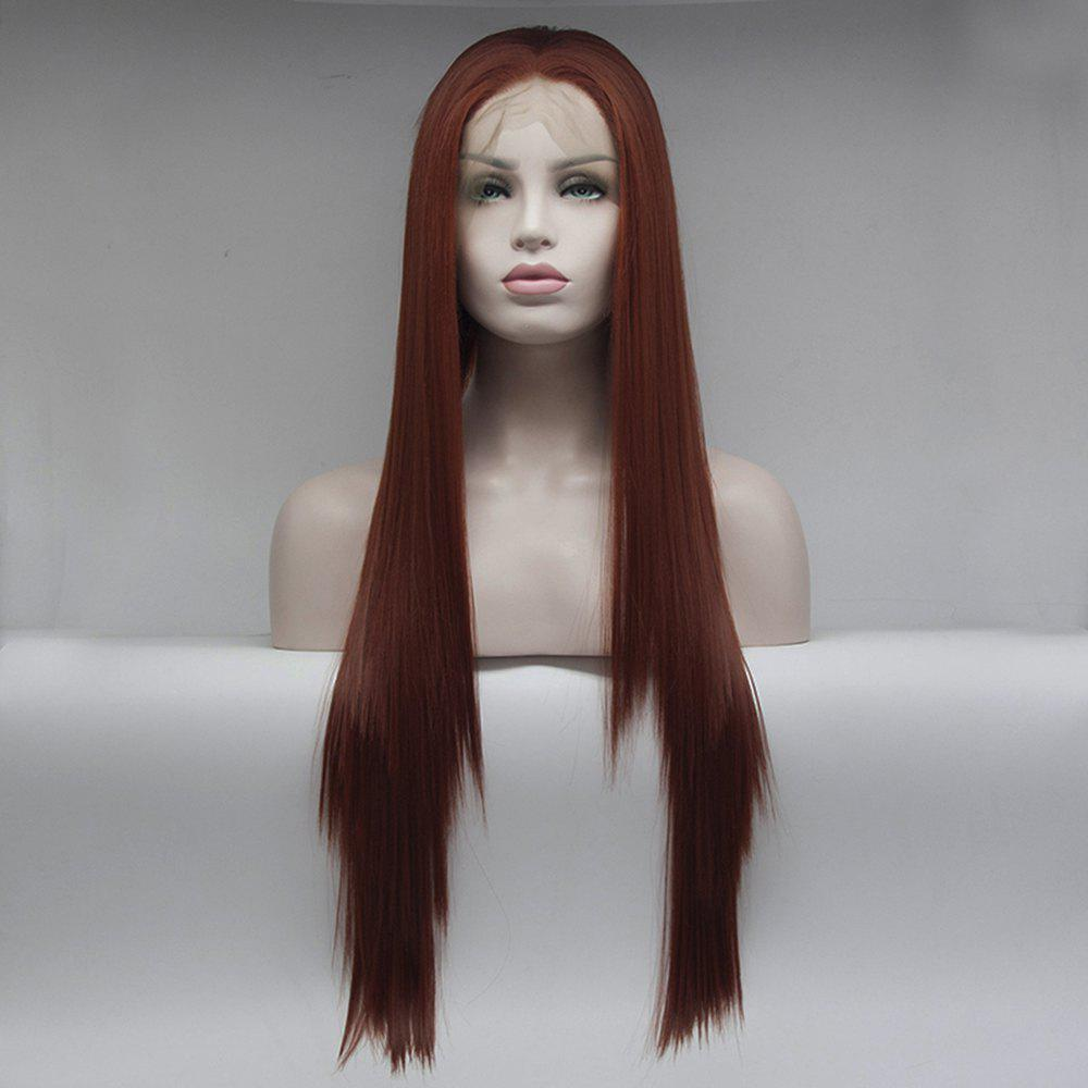 2018 Kinky Straight Red Long Hair Heat Resistant Synthetic Lace