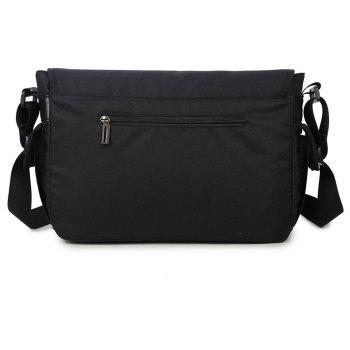Men's Simple Solid Color Vertical Chain Crossbody Bag - BLACK