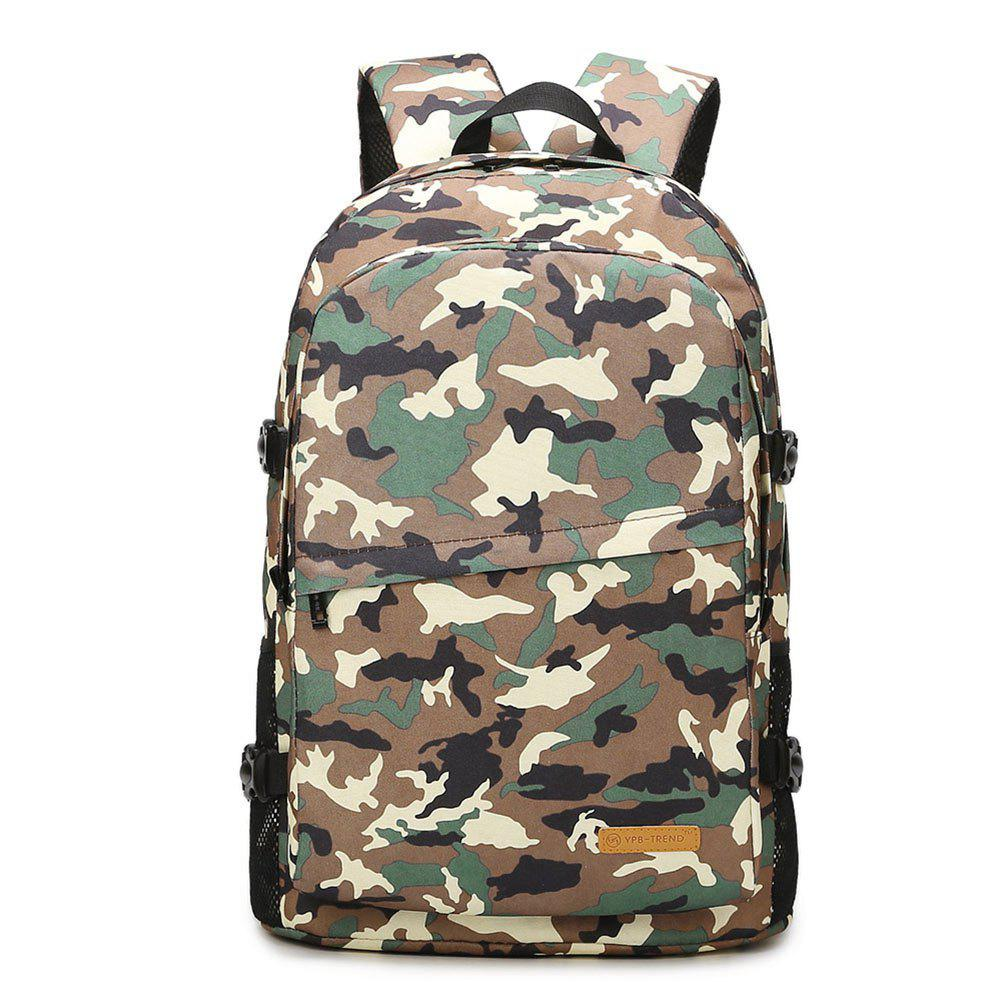 Men's Casual Camouflage Multi-functional Backpack - CAMOUFLAGE