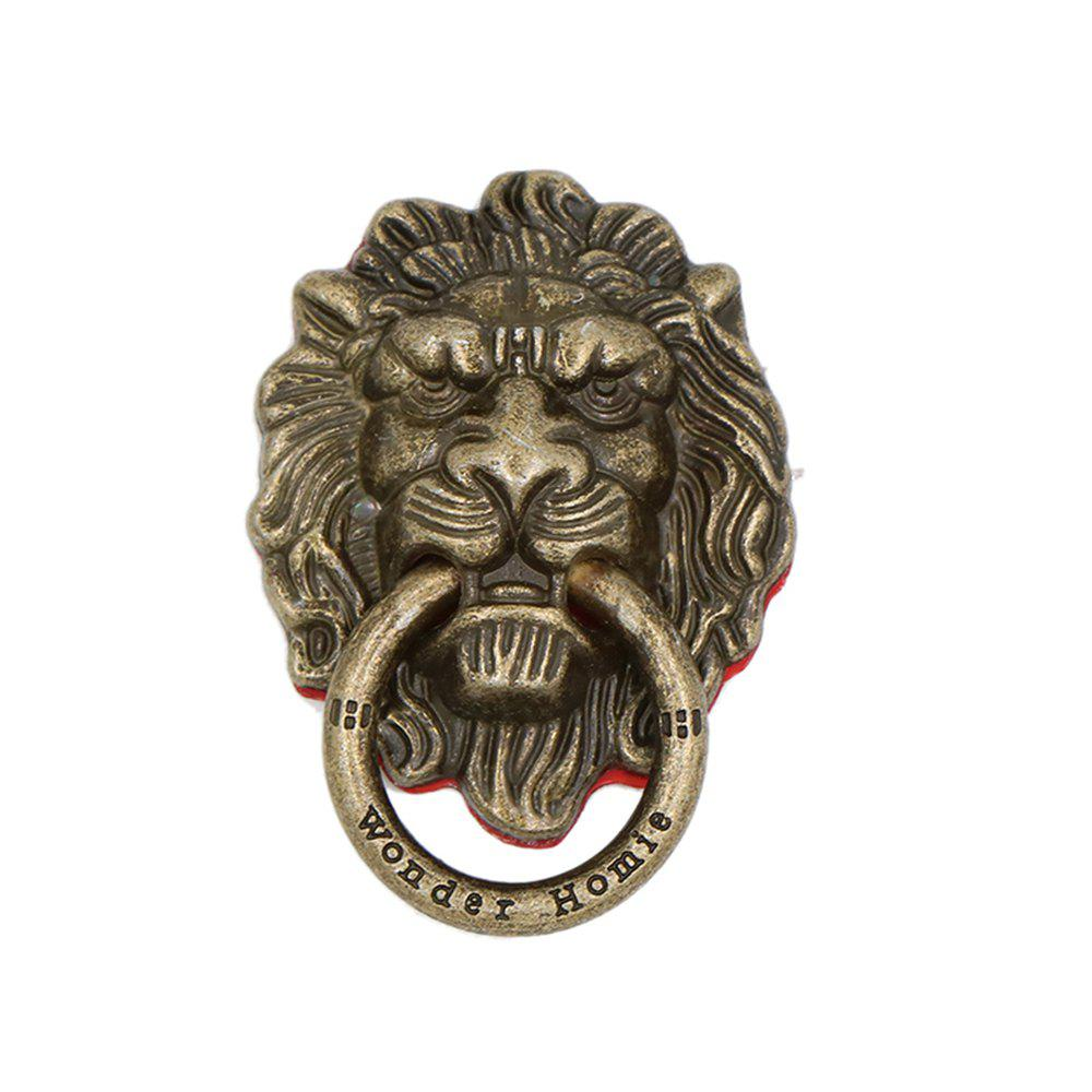 Lion Head 90 Degree Rotating Phone Finger Ring Stand Holder - BRONZE