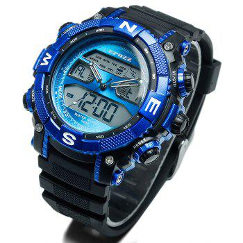 EPOZZ 2801 Men Sports Analog Digital Waterproof Watch - BLUE