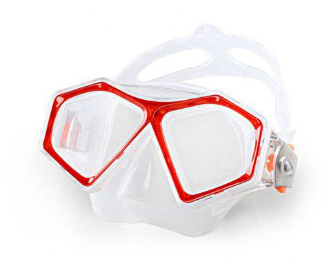 Adult High Quality Diving Glasses - RED