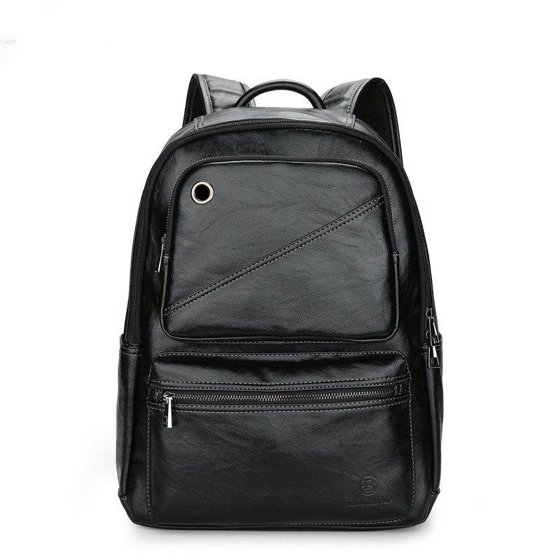 Male Casual New Shoulder Bag - BLACK