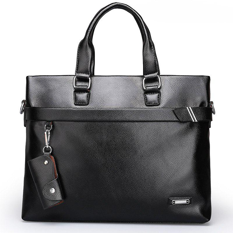 New Men's Casual Pendant Handbag - BLACK